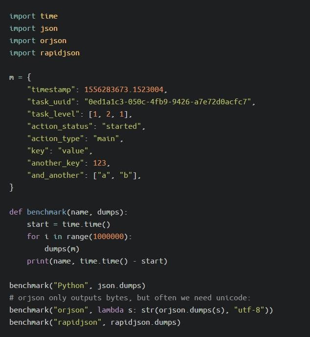为Python选择一个更快的JSON库