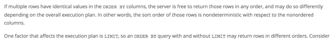 切记!MySQL中order by与limit不要一起用!