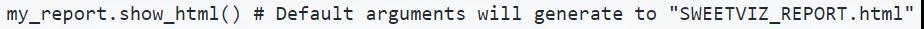 强!仅 1 行 Python 代码就能实现数据分析