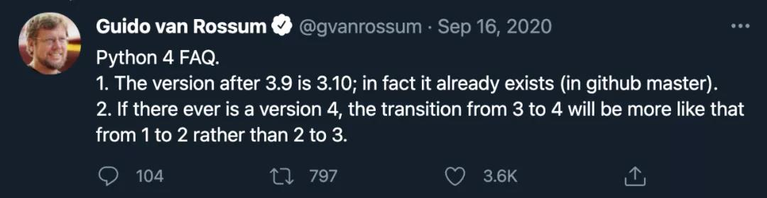 Python之父:Python 4.0可能不会来了